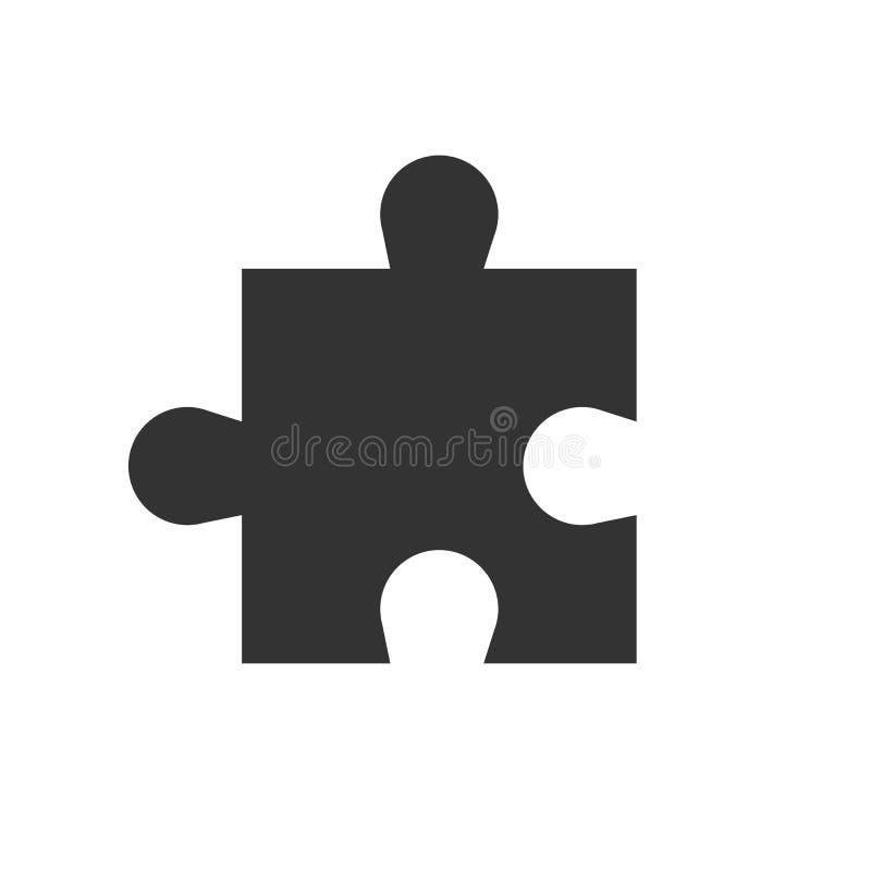 Enkel pusselsymbol Vektorillustration, lägenhetdesign stock illustrationer
