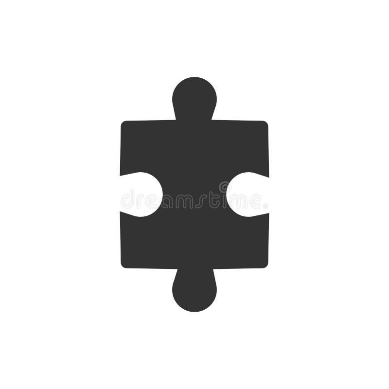 Enkel pusselsymbol Vektorillustration, lägenhetdesign vektor illustrationer