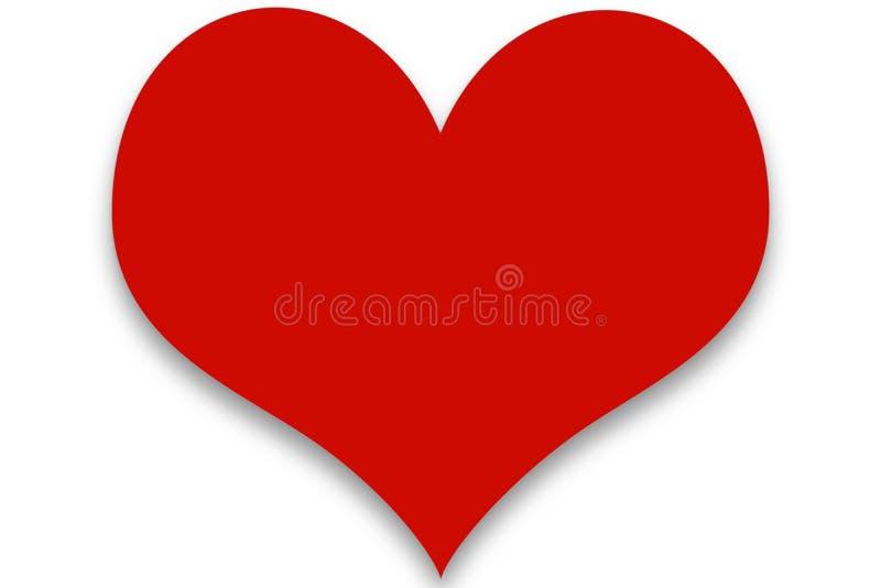 Enkel röd Clipart hjärta arkivfoton