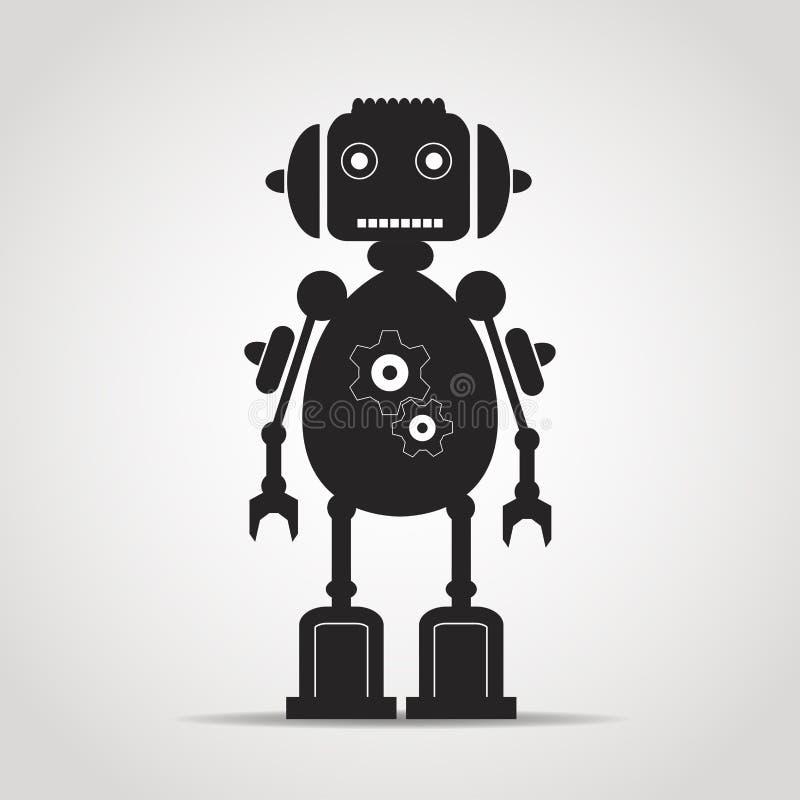 Enkel robot stock illustrationer