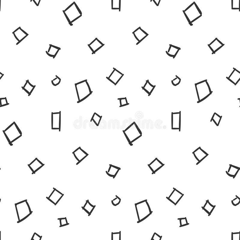 Enkel sömlös modell för fyrkanter på vit bakgrund vektor illustrationer