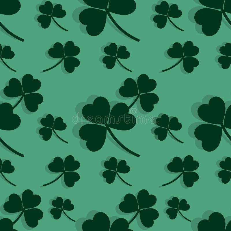 Enkel s?ml?s modell f?r Sts Patrick dag vektor illustrationer