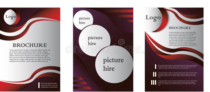Enkel standard broschyrLayoutDesign mall stock illustrationer
