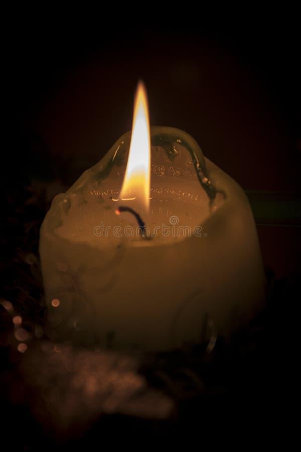 Enkel stearinljusnärbild royaltyfria foton