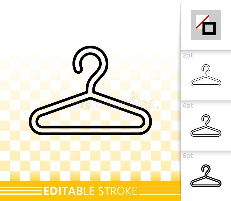 Enkel svart linje vektorsymbol för hängare royaltyfri illustrationer