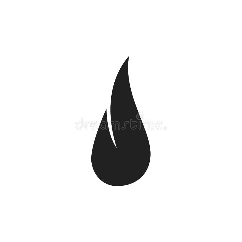 Enkel svart plan design för logo för flammakonturföretag i minsta stil vektor illustrationer
