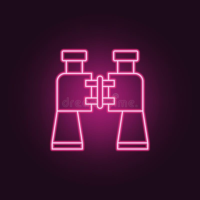 Enkel symbol Beståndsdelar av brotts- utredning i neonstilsymboler Enkel symbol för websites, rengöringsdukdesign, mobil app, inf vektor illustrationer