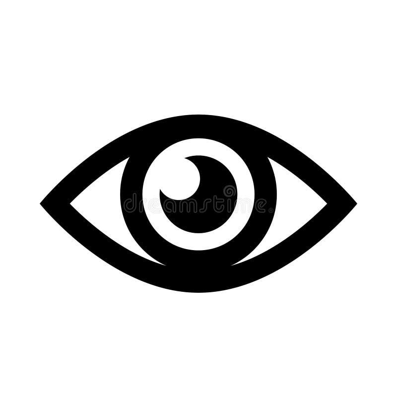 Enkel symbol för öga vektor illustrationer