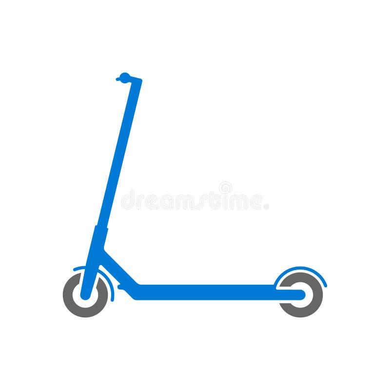 Enkel symbol för elektrisk sparkcykel Sportsymbol ocks? vektor f?r coreldrawillustration vektor illustrationer