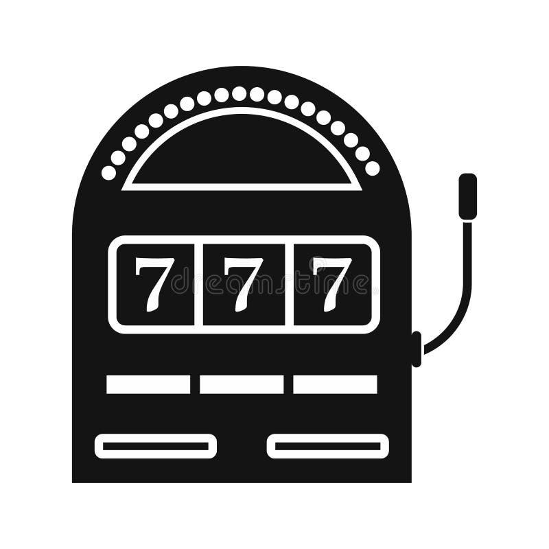 Enkel symbol för enarmad banditjackpottsvart vektor illustrationer