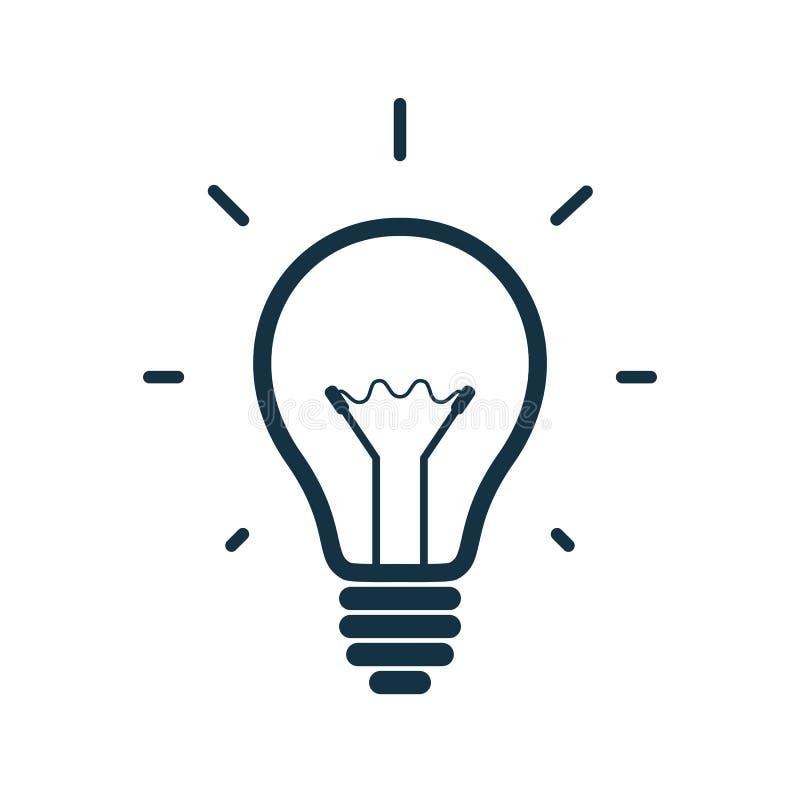 Enkel symbol för ljus kula också vektor för coreldrawillustration royaltyfri illustrationer