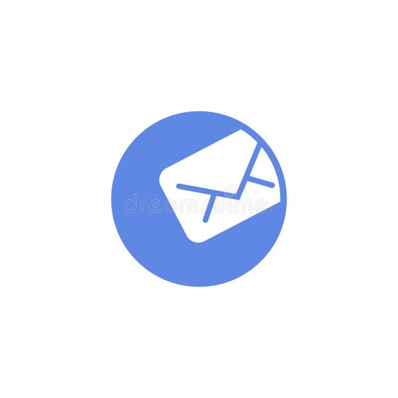 Enkel symbol för runda för vektorlägenhetkonst av bokstavsmeddelandet stock illustrationer