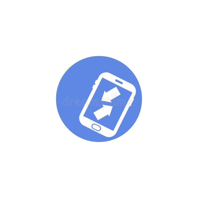Enkel symbol för runda för vektorlägenhetkonst av inkommande och utgående appeller stock illustrationer