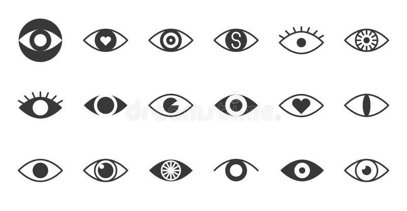 Enkel symbol för skåraögonvektor, perfekt PIXEL vektor illustrationer
