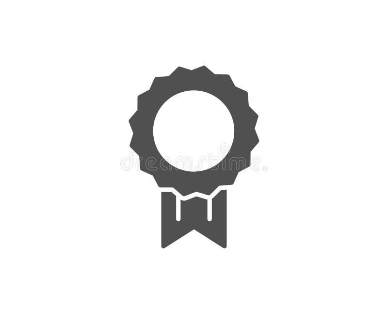 Enkel symbol för utmärkelsemedalj Vinnareprestation stock illustrationer