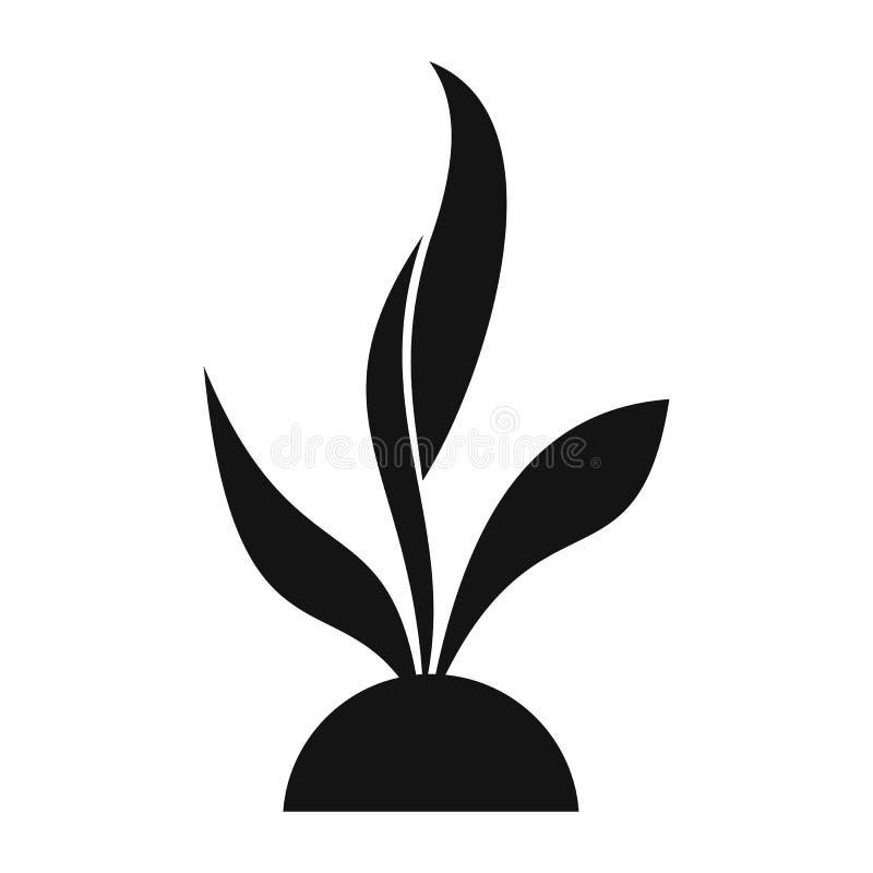 Enkel symbol för växtplanta stock illustrationer