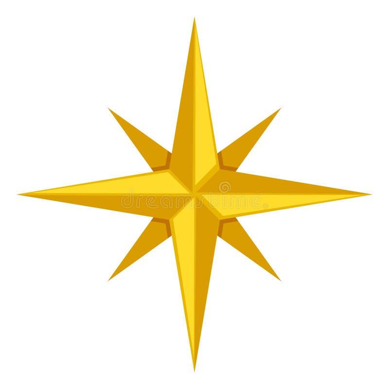 Enkel symbol för vektor - klassisk vind steg royaltyfri illustrationer