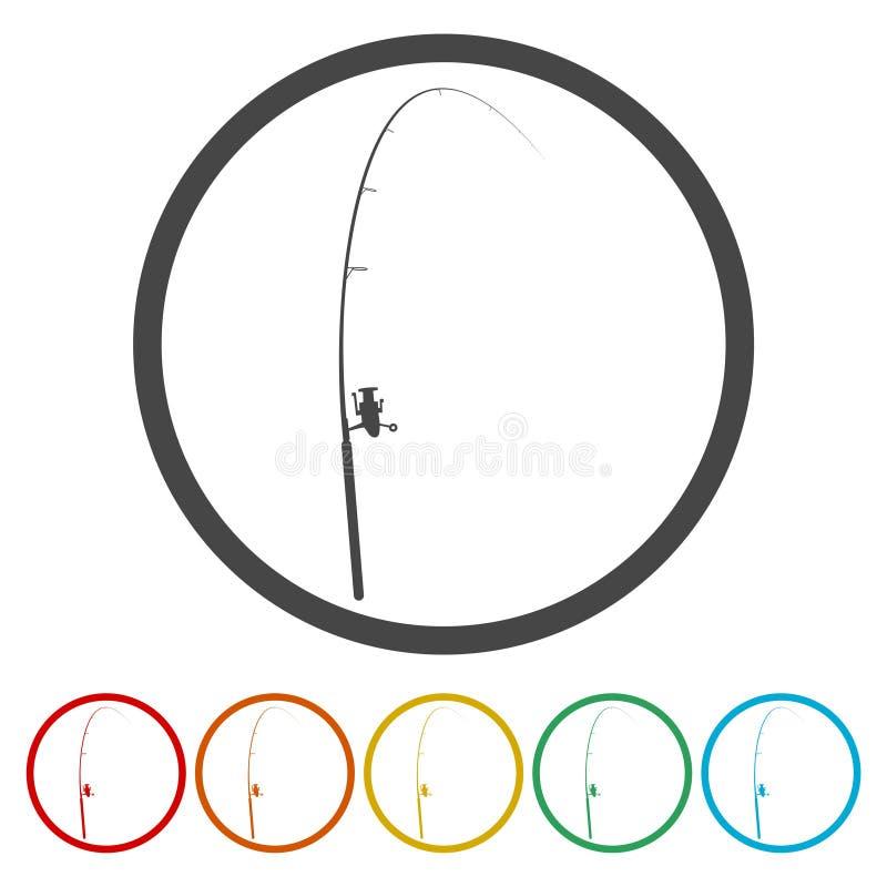 Enkel symbol Plan symbol för singel på cirkeln också vektor för coreldrawillustration vektor illustrationer