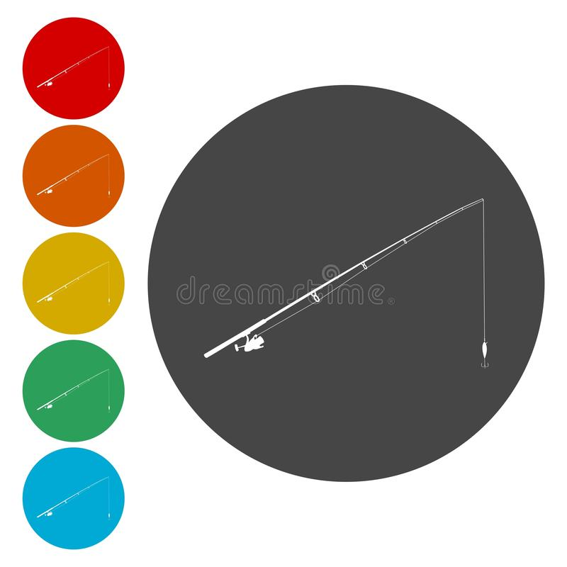 Enkel symbol Plan symbol för singel på cirkeln också vektor för coreldrawillustration royaltyfri illustrationer