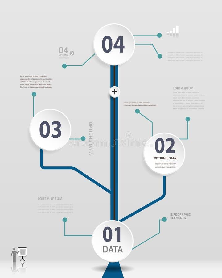 Enkel Timelineinfographicsdesign vektor illustrationer