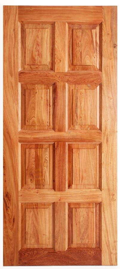 Enkel trädörr arkivfoto