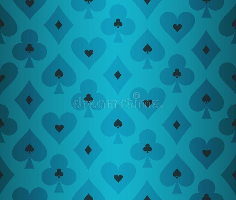 Enkel turkospokerbakgrund med genomskinligt royaltyfri illustrationer