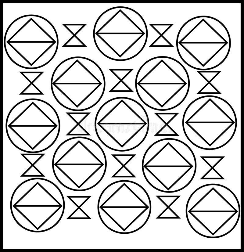 Enkel unik fyrkantig portdesign royaltyfri illustrationer