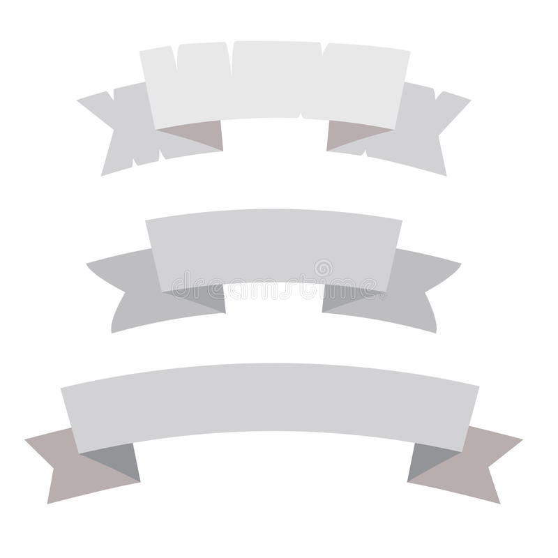 Enkel vektorbanduppsättning, baner vektor illustrationer