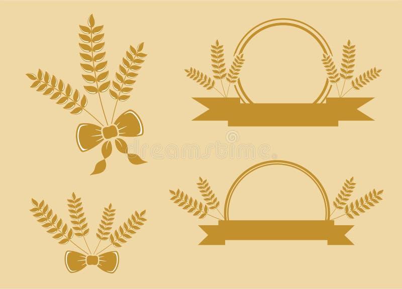 Enkel veteillustration vid pitripiter vektor illustrationer