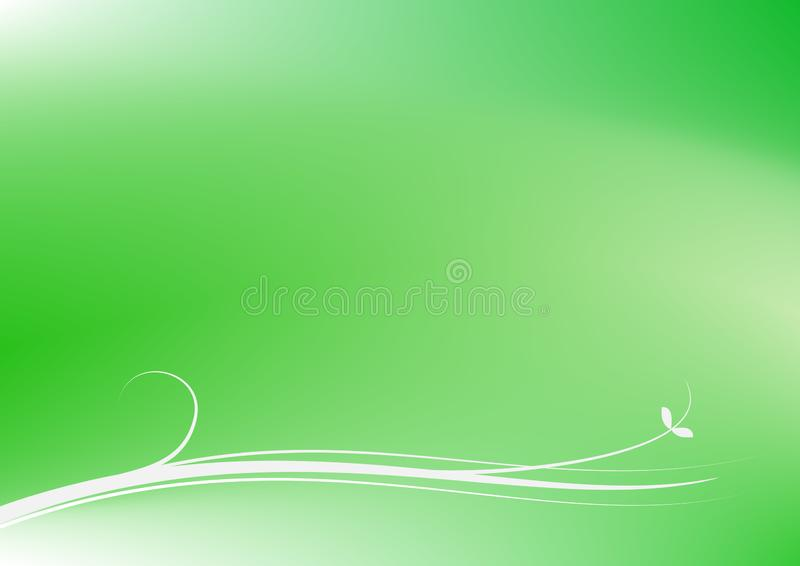 Enkel virvel på grön vektor för kurvabstrakt begreppbakgrund vektor illustrationer