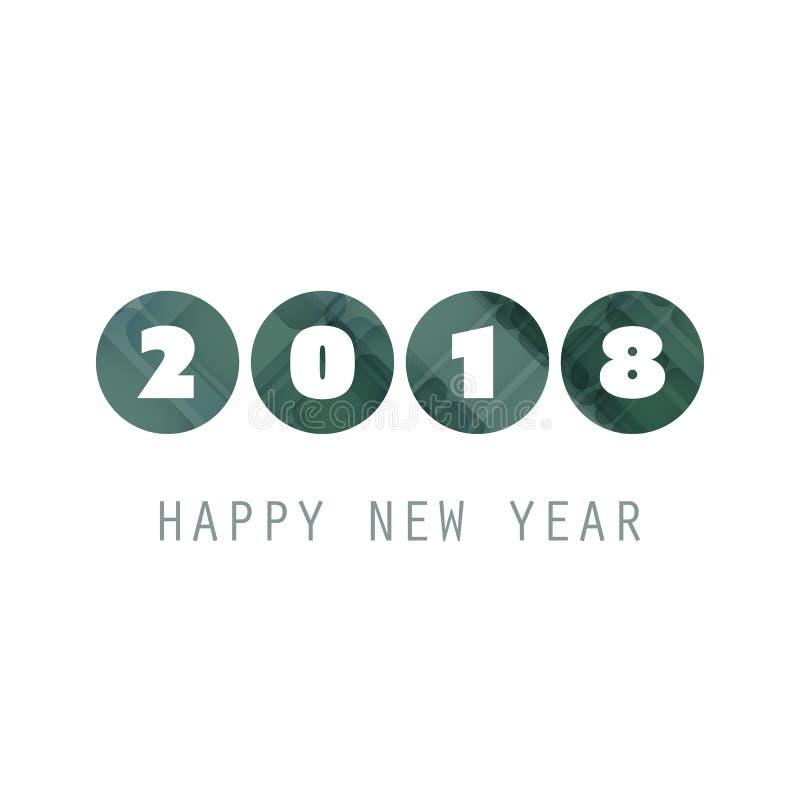 Enkel vit för kort-, räknings- eller bakgrundsdesign för nytt år mall för gräsplan och - 2018 vektor illustrationer