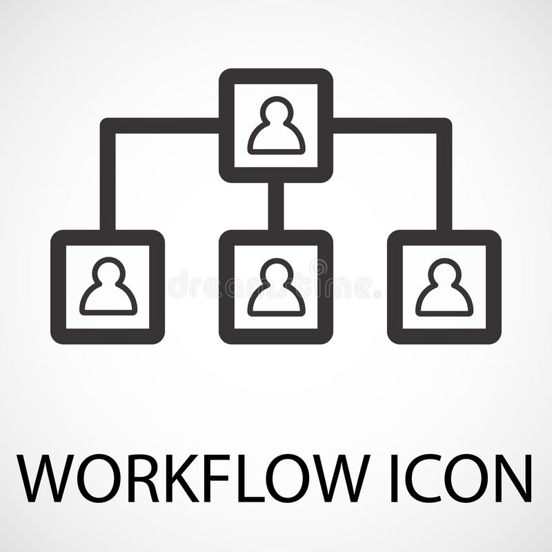 Enkel workflowlinje konstsymbol, vektor vektor illustrationer