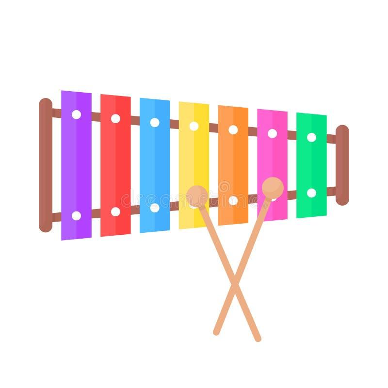 Enkel xylofonleksaksymbol royaltyfri illustrationer
