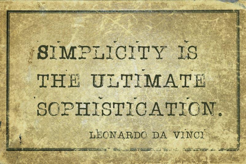 Enkelhet är DaVinci arkivfoton