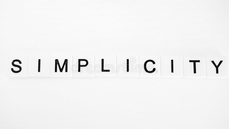 enkelhet royaltyfria bilder