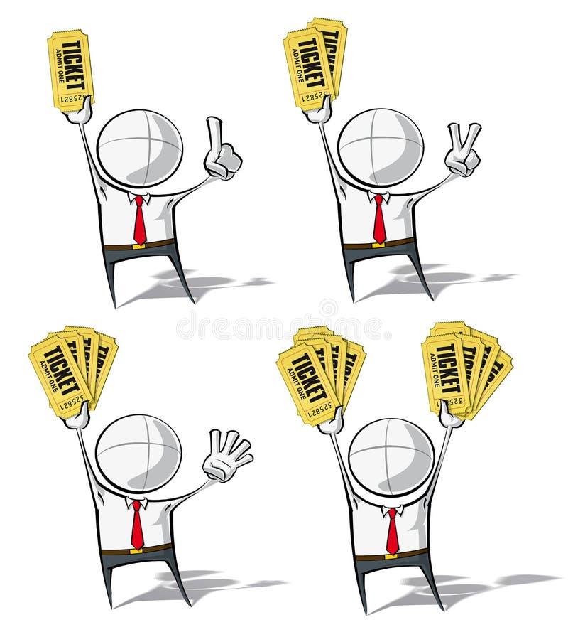 Enkelt affärsfolk - biljetter stock illustrationer