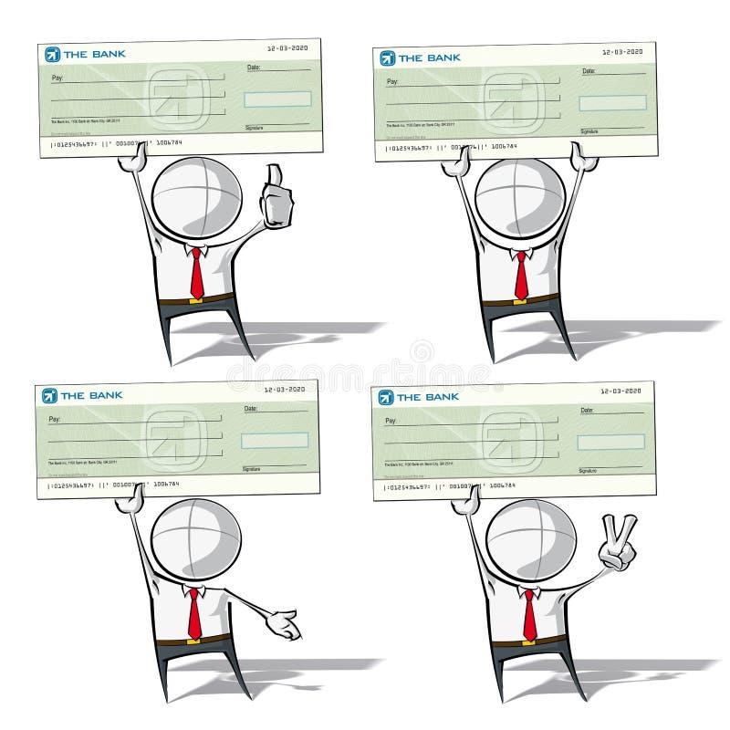 Enkelt affärsfolk - kontroll royaltyfri illustrationer