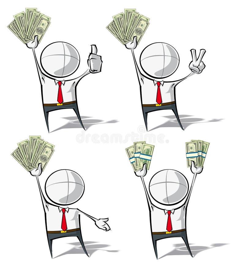 Enkelt affärsfolk - pengar vektor illustrationer