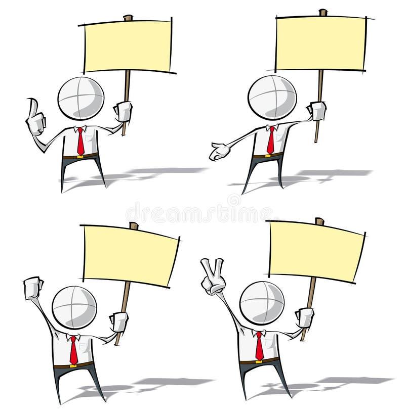 Enkelt affärsfolk - rymma ett plakat vektor illustrationer