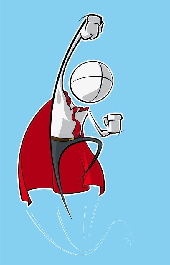 Enkelt affärsfolk - Superhero royaltyfri illustrationer