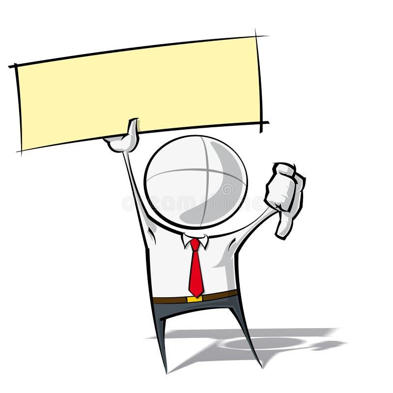 Enkelt affärsfolk - tummar märker ner vektor illustrationer