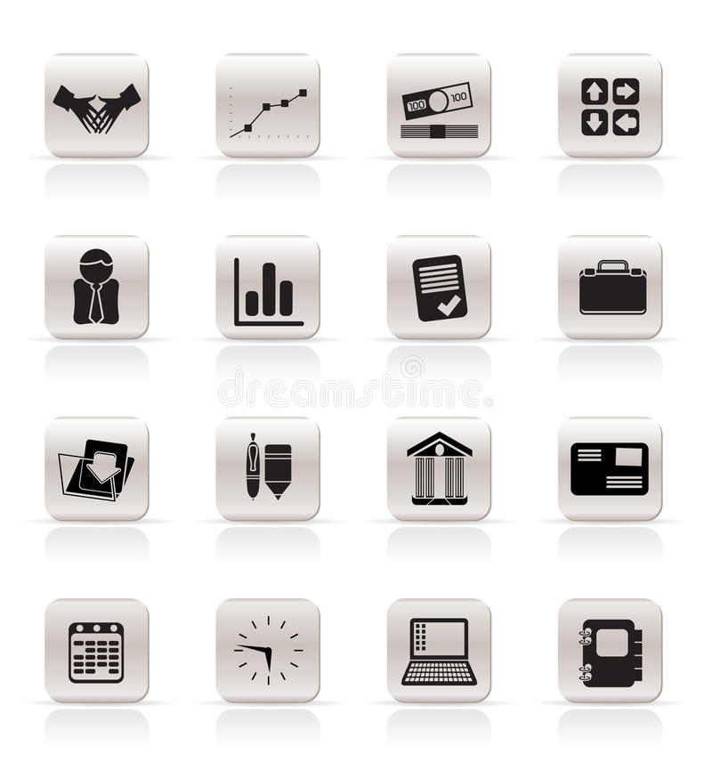 enkelt affärssymbolskontor stock illustrationer
