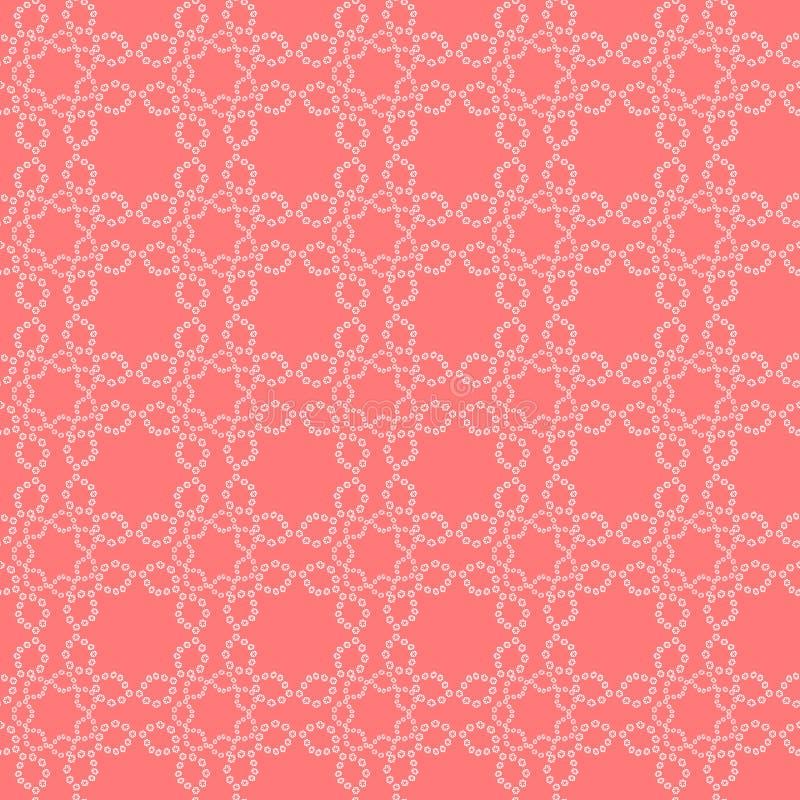 Enkelt blom- snör åt den sömlösa vektormodellen, bakgrund royaltyfri illustrationer