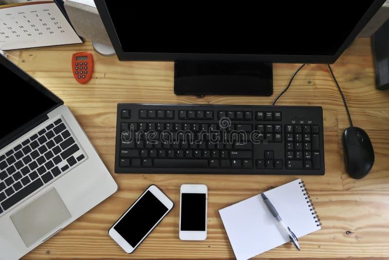 Enkelt dagligen modern Workspacebakgrund royaltyfri foto