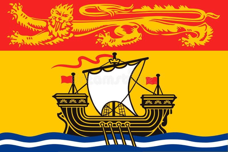 Enkelt flaggalandskap av Kanada royaltyfri illustrationer