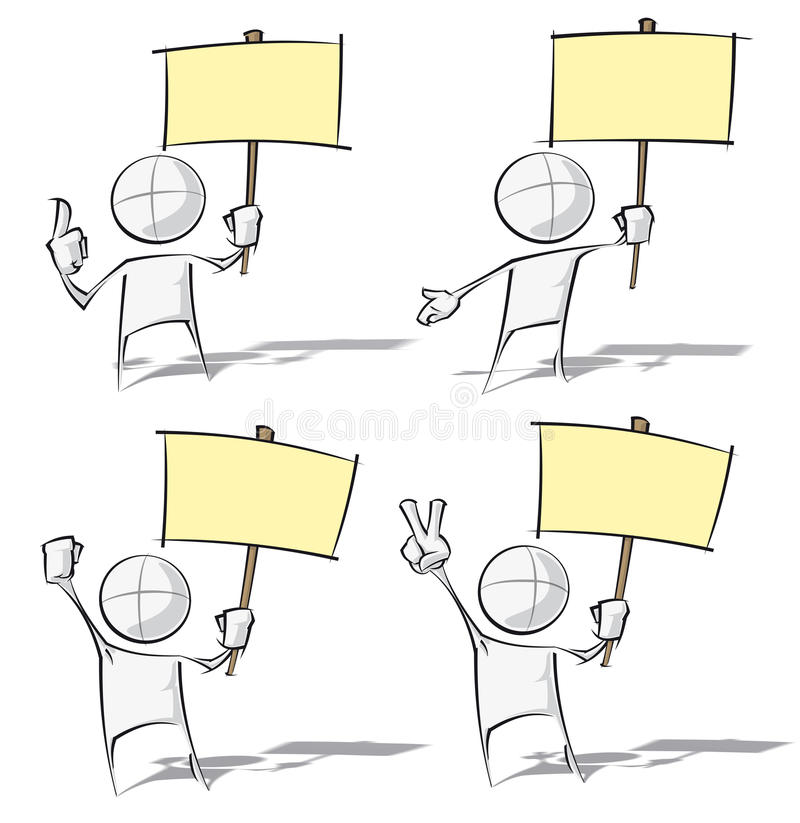 Enkelt folk - rymma ett plakat vektor illustrationer
