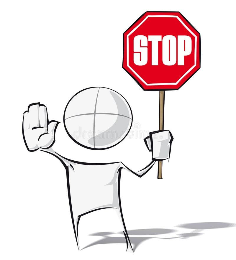 Enkelt folk - stopp stock illustrationer