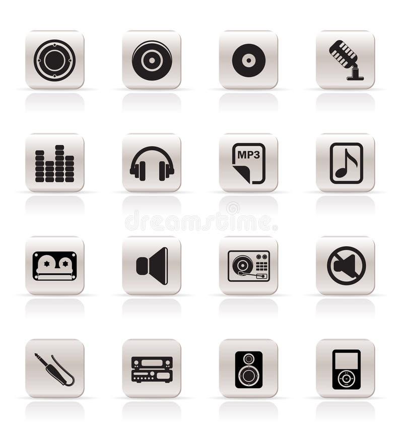 enkelt ljud för symbolsmusik stock illustrationer