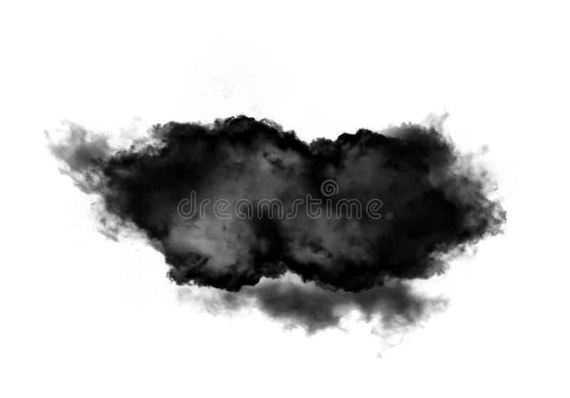 Enkelt moln som isoleras över vit bakgrund royaltyfri bild