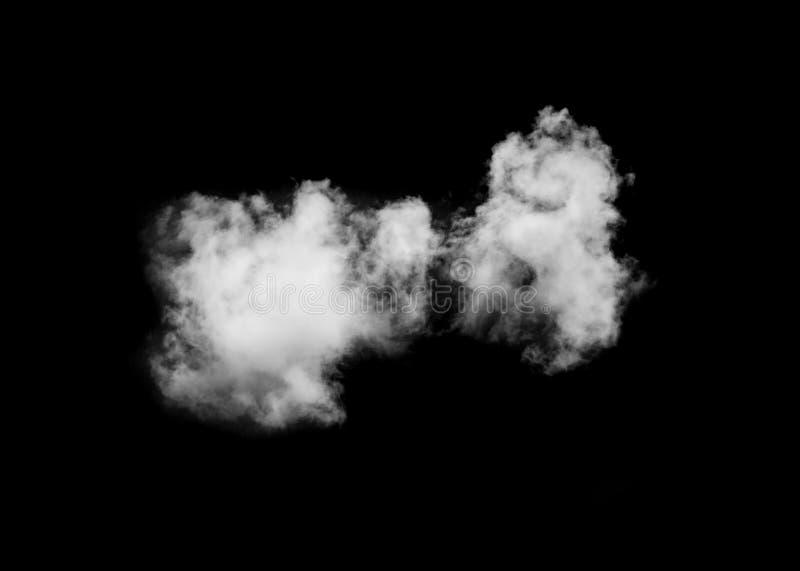 Enkelt moln som isoleras på svart royaltyfri bild